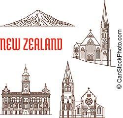 Puntos de referencia de Nueva Zelanda