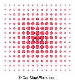 Puntos de vector rosa en blanco