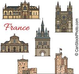 Puntos de viaje de arquitectura francesa medieval