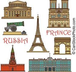 Puntos de viaje de Francia, el icono de Rusia