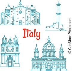 Puntos de viaje populares de Italia