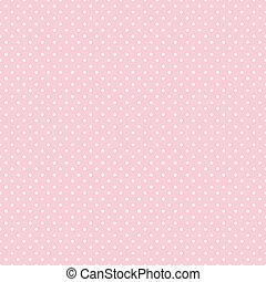 Puntos lunares sin costura en color rosa pastel