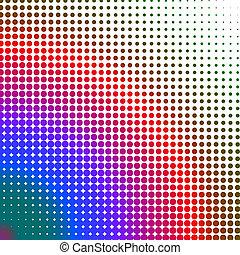 Puntos multicolores cambiando de forma