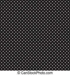 puntos, negro, seamless, polca, blanco