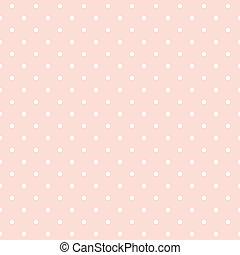 puntos, plano de fondo, vector, rosa, polca