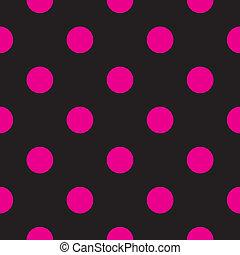 Puntos rosas y antecedentes negros
