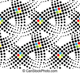 Puntos vector de patrón sin costura
