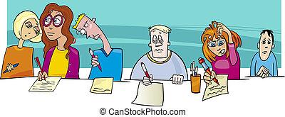 Pupilas y exámenes difíciles