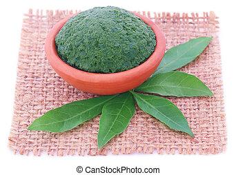 Puré vitex negundo o hojas medicinales de nishinda