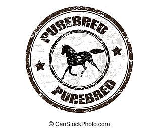 Puro sello de caballo