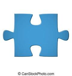 Puzzle pieza azul
