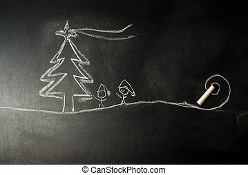 Qué graciosa tarjeta de felicitación navideña