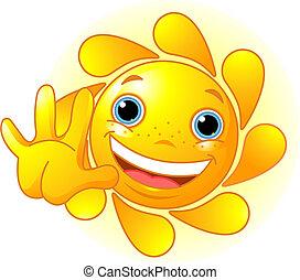 Qué lindo sol saludando