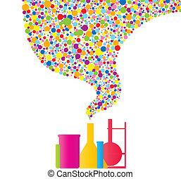 química, colorido