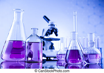 Químicos, ciencia, equipo de laboratorio