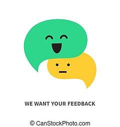 Queremos tus burbujas de vector de retroalimentación