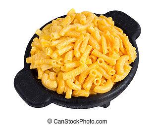 queso, cena, macarrones