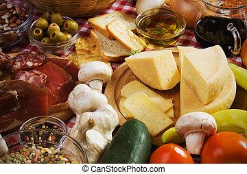 queso, duro, italiano