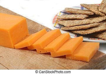 queso, galletas