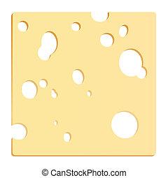 queso, rebanada, cuadrado