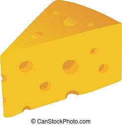 queso suizo, vector, ilustración