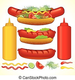 rápido, hot dog