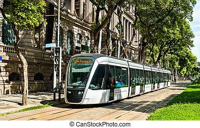 río, ciudad, tranvía, janeiro, brasil, de