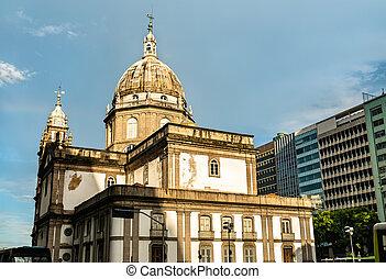 río, de, iglesia, janeiro, brasil, candelaria