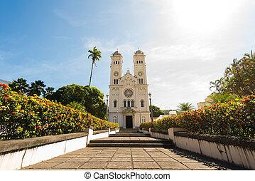 río, janeiro, fachada, católico, de, iglesia