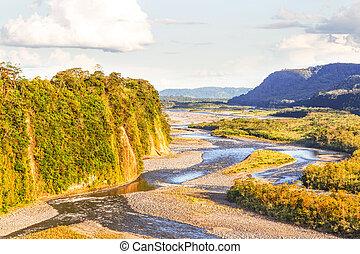 Río Napo en Ecuador