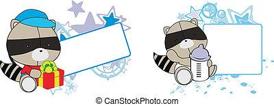 Raccoon, dibujitos de dibujos animados