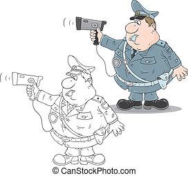 radar, tráfico, policía