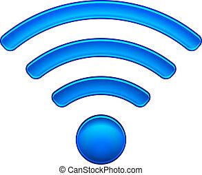 radio, símbolo, wifi, red, icono