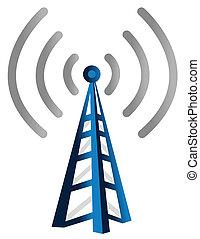 radio, torre