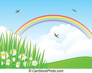 rainbow., paisaje