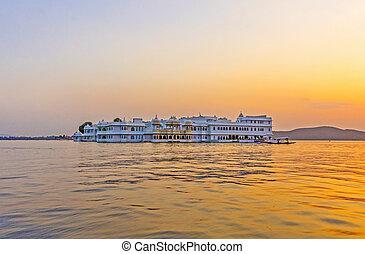 rajasthan, lago, palacio, udaipur