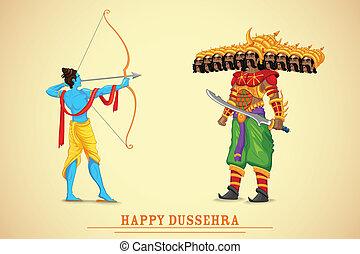 Rama matando a Ravana
