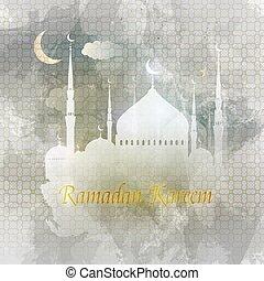 Ramadan kareem. Árabe. El diseño de vectores islámicos.
