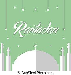 Ramadan kareem diseño plano