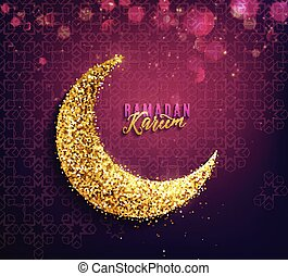 Ramadan kareem fondo crescent islámica