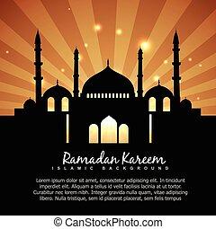Ramadan kareem fondo islámico