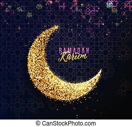 Ramadan kareem saluda de fondo