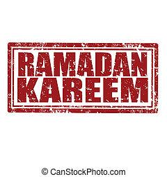 Ramadan kareem-stamp