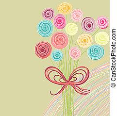 ramo, resumen, flores