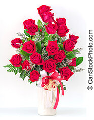 ramo, rosas, rojo
