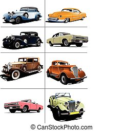 rareza, orejas, coches, ocho, old., cincuenta