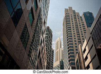 Rascacielos, típico urbanismo
