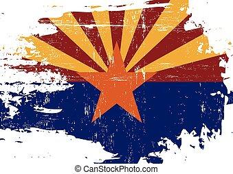 rasguñado, bandera, arizona