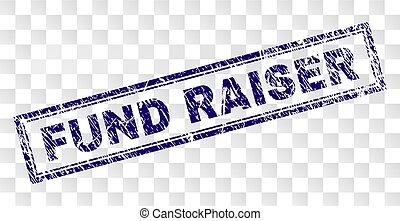 Rasguño sello de rectángulo de recaudación de fondos