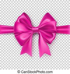 raso, rosa, regalo, cinta, arco
